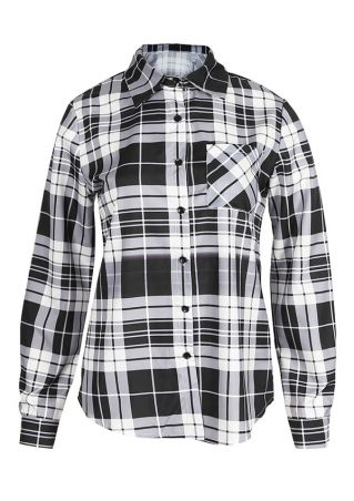 Plaid Button Long Sleeve Shirt