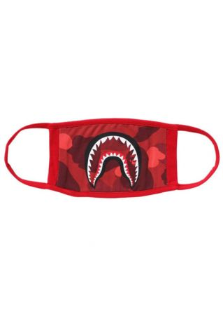 Shark Mouth Ape Head Printed Mouth Mask