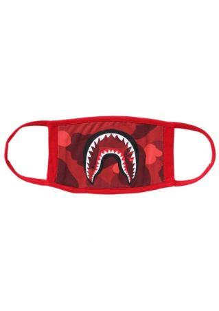 Shark Mouth Ape Head Printed Mouth Mask