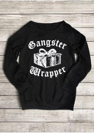 Gangster Wrapper Long Sleeve Sweatshirt