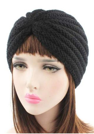 Solid Knitted Fashion Hat