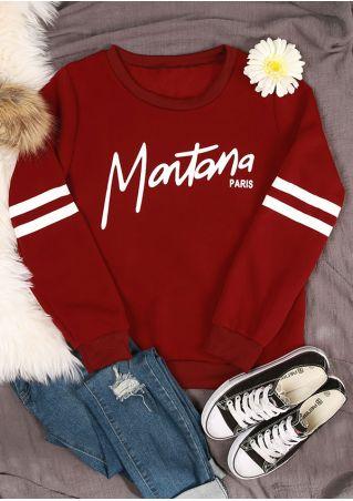 Montana Paris Striped Detail Sweatshirt