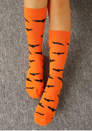 Halloween Bat Soft Socks