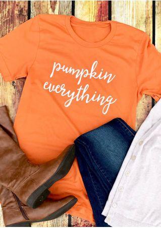 Halloween Pumpkin Everything O-Neck Short Sleeve T-Shirt