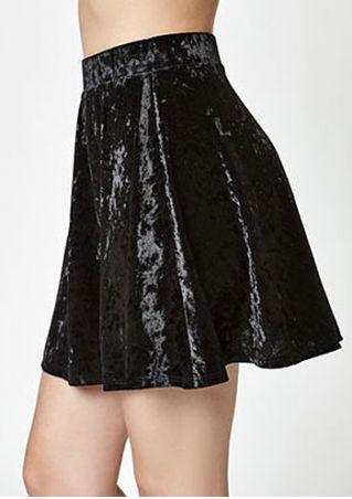 Solid Silk Velvet Fashion Skirt