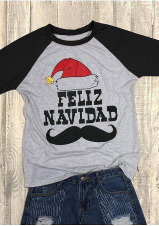 Christmas Feliz Navidad O-Neck Baseball T-Shirt