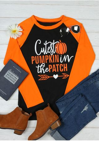 Halloween Cutest Pumpkin In The Patch Baseball T-Shirt