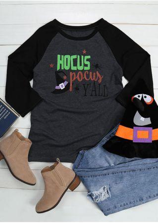 Halloween Hocus Pocus Y'all Baseball T-Shirt