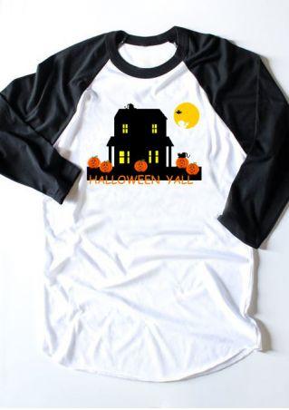 Halloween Yall Pumpkin Baseball T-Shirt