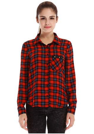 Plaid Casual Long Sleeve Shirt