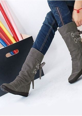 Solid Lace Up  Increased Internal Boots
