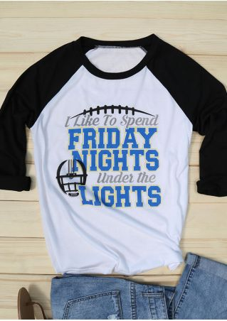 Friday Nights Under The Lights Baseball T-Shirt