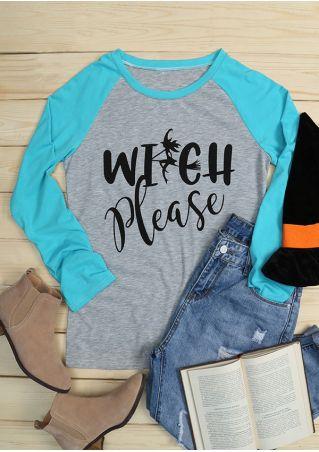 Halloween Witch Please O-Neck Baseball T-Shirt