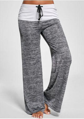 Layered Drawstring Wide Leg Pants