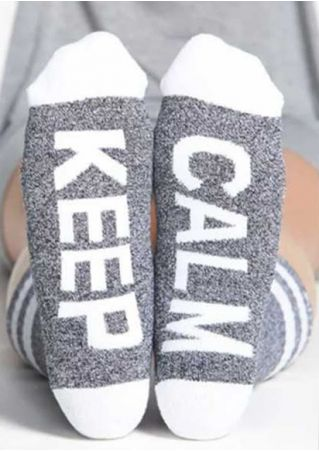 Keep Calm Color Block Long Socks