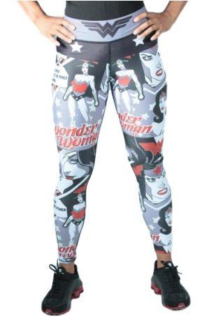 Plus Size Wonder Woman Elastic Waist Sport Pants