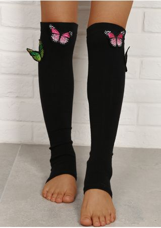 Butterfly Toeless Long Socks