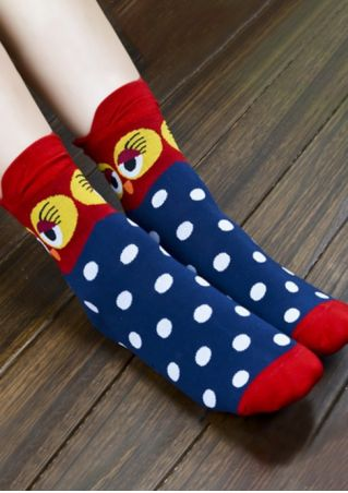 Owl Polka Dot Socks