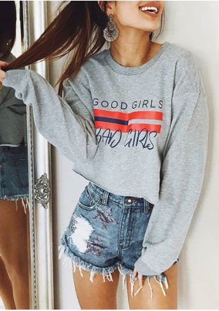 Good Girls Bad Girls O-Neck Crop Top
