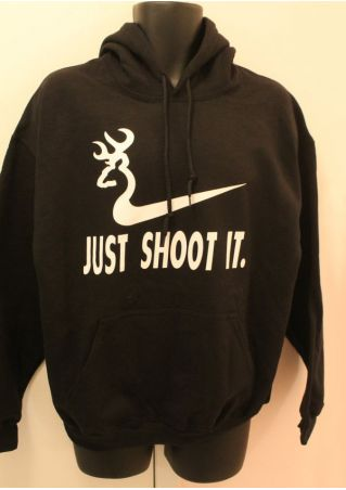 Just Shoot It Long Sleeve Hoodie
