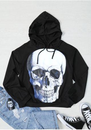 Halloween Skull Drawstring Hoodie