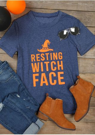 Halloween Resting Witch Face T-Shirt
