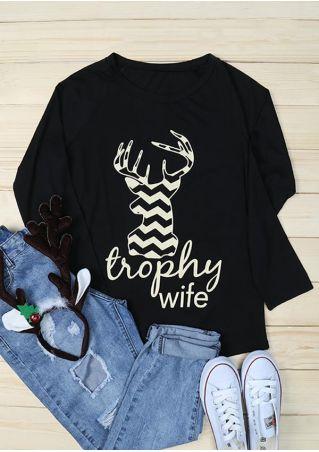 Trophy Wife Deer O-Neck T-Shirt