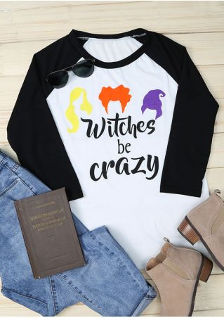 Halloween Hocus Pocus Witches Be Crazy Baseball T-Shirt