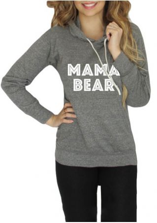 Mama Bear Pocket Long Sleeve Hoodie