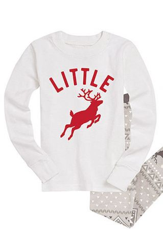 Little Deer Printed Long Sleeve Sweatshirt