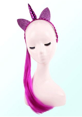 Halloween Unicorn Horn Headband with Wig Braid