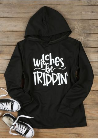 Halloween Witches Be Trippin' Long Sleeve Hoodie