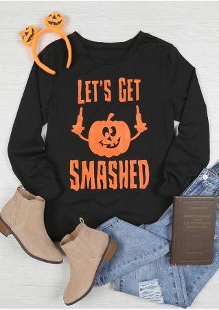 Halloween Let's Get Smashed Pumpkin T-Shirt