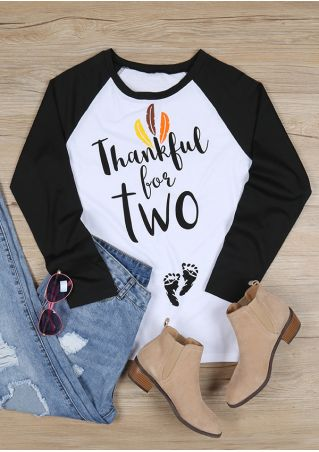 Thankful O-Neck Long Sleeve Baseball T-Shirt
