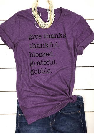 Give Thanks Thankful Blessed Grateful Gobble T-Shirt