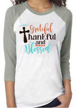 Grateful Thankful And Blessed Baseball T-Shirt