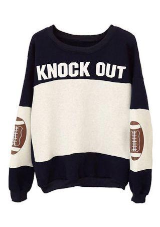 Knock Out Football O-Neck Sweatshirt