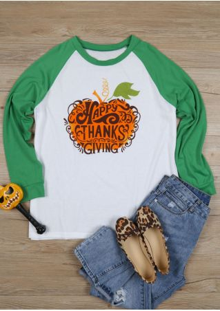 Plus Size Happy Thanks Giving Baseball T-Shirt