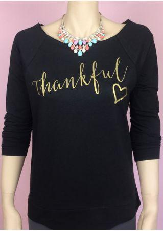 Thankful Heart Raglan Sleeve Sweatshirt