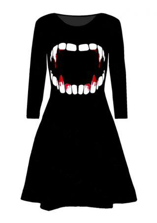 Halloween Vampire Blood Mini Dress