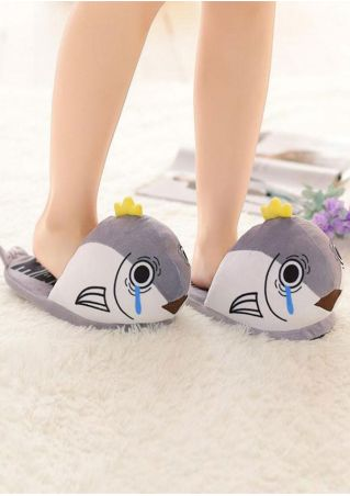 Cartoon Chinese Characters Printed Slippers