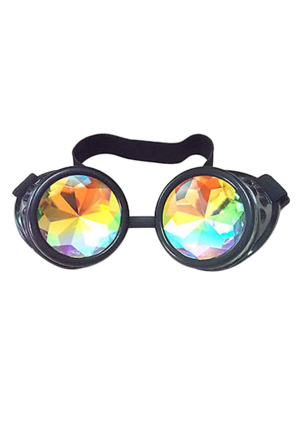 Kaleidoscope Prism Diffraction Steampunk Glasses