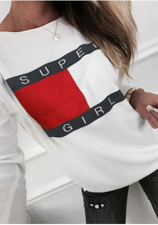 Super Girl Printed T-Shirt without Necklace