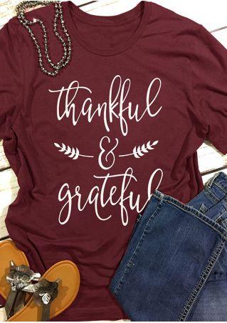 Thankful & Grateful Short Sleeve T-Shirt