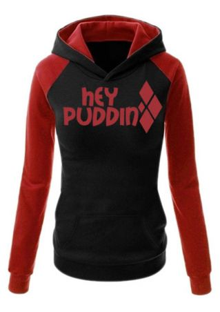 Hey Puddin Color Block Hoodie