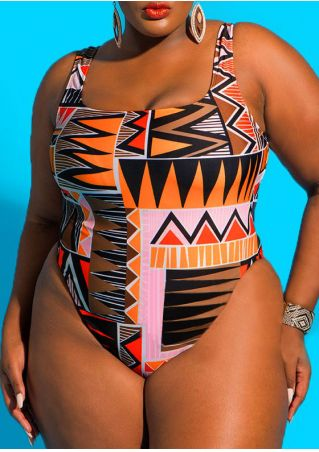 Geometric Printed One-Piece Swimsuit