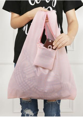 Striped Baggu Foldable Portable Shopping Bag
