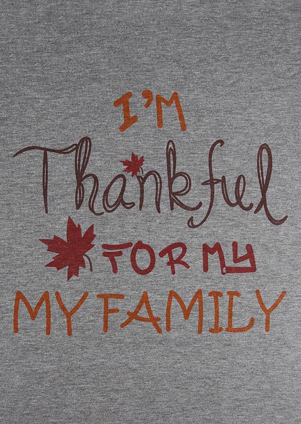 I M Thankful For My Family Baseball T Shirt Bellelily