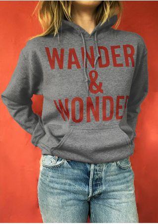 Wander & Wonder Drawstring Pocket Hoodie
