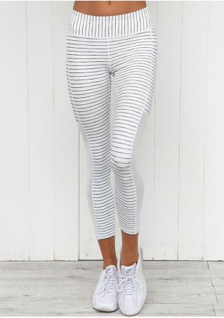 Striped Splicing Stretchy Sport Pants